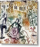 Folk-dancing Metal Print by Milen Litchkov