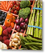 Food Compartments  Metal Print by Garry Gay