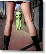For Alien Eyes Only Metal Print by Richard Henne