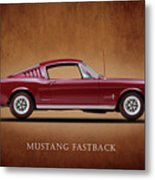 Ford Mustang Fastback 1965 Metal Print by Mark Rogan