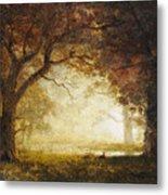 Forest Sunrise Metal Print by Albert Bierstadt