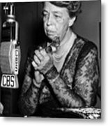 Former First Lady Eleanor Roosevelt Metal Print by Everett