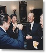 Four Presidents Nixon Reagan Ford Metal Print by Everett