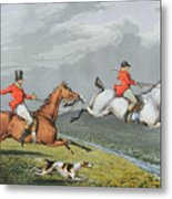 Fox Hunting - Full Cry Metal Print by Charles Bentley