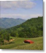 Franklin County Virginia Red Barn Metal Print by Teresa Mucha