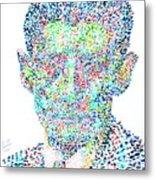 Franz Kafka Watercolor Portrait.1 Metal Print by Fabrizio Cassetta