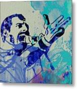 Freddie Mercury Queen Metal Print by Naxart Studio