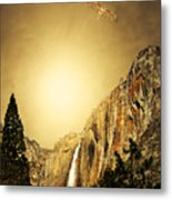 Free To Soar The Boundless Sky . Portrait Cut Metal Print by Wingsdomain Art and Photography