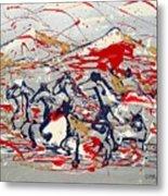Freedom On The Open Range Metal Print by J R Seymour