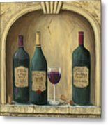 French Estate Wine Collection Metal Print by Marilyn Dunlap