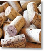 French Wine Corks Metal Print by Georgia Fowler