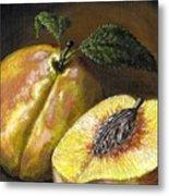 Fresh Peaches Metal Print by Adam Zebediah Joseph