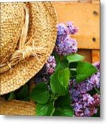 Freshly Picked Lilacs Metal Print by Sandra Cunningham