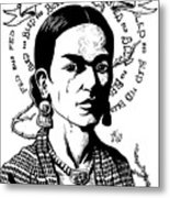 Frida Metal Print by Marcus Anderson