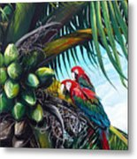 Friends Of A Feather Metal Print by Karin  Dawn Kelshall- Best