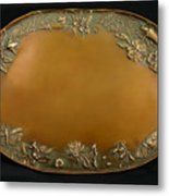 From The Foothills Bronze Tray Metal Print by Dawn Senior-Trask