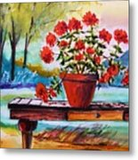 From The Potting Shed Metal Print by John Williams