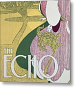 Front Cover Of The Echo Metal Print by William Bradley