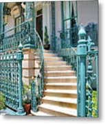 Front Steps To John Rutledge Home Metal Print by Steven Ainsworth