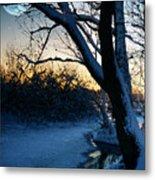 Frozen River Metal Print by  Jaroslaw Grudzinski