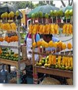 Fruit Stand Antigua  Guatemala Metal Print by Kurt Van Wagner