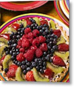 Fruit Tart Pie Metal Print by Garry Gay