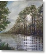 Full Moon On The River Metal Print by Kathleen McDermott