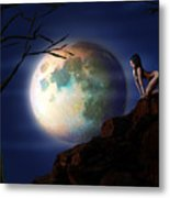 Full Moon Metal Print by Virginia Palomeque