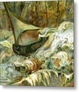 Fun With The Waves Metal Print by Anne Weirich