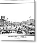 Funeral Obsequies Of President Lincoln Metal Print by War Is Hell Store