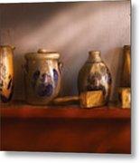Furniture - Shelf - Family Heirlooms  Metal Print by Mike Savad