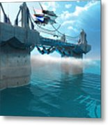 Futuristic Skyway Metal Print by Corey Ford