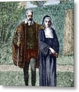 Galileo And His Daughter Maria Celeste Metal Print by Sheila Terry