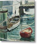 Galveston Boats Watercolor Metal Print by Judy Loper