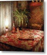 Game - Checkers - Checkers Anyone Metal Print by Mike Savad