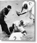 Game Four Of The 1949 World Series Metal Print by Everett