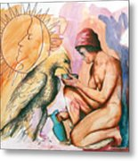Ganymede And Zeus Metal Print by Rene Capone