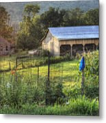 Garden View Metal Print by Pete Hellmann