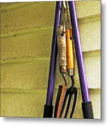 Gardening Tools Metal Print by Kenneth William Caleno