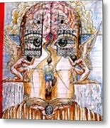 Gates Of Self-knowledge Metal Print by Paulo Zerbato