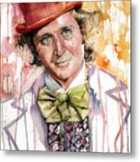 Gene Wilder Metal Print by Michael  Pattison