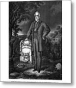 General Lee Visits The Grave Of Stonewall Jackson Metal Print by War Is Hell Store