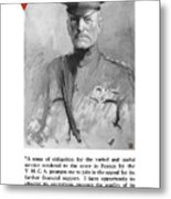 General Pershing - United War Works Campaign Metal Print by War Is Hell Store