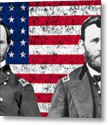 Generals Sherman And Grant  Metal Print by War Is Hell Store