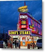 Geno's Steaks South Philly Metal Print by John Greim