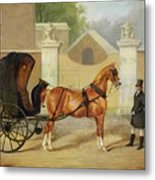Gentlemen's Carriages - A Cabriolet Metal Print by Charles Hancock