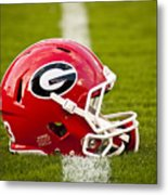 Georgia Bulldogs Football Helmet Metal Print by Replay Photos