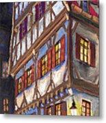 Germany Ulm Old Street Metal Print by Yuriy  Shevchuk