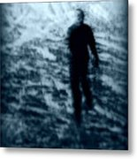 Ghost In The Snow Metal Print by Perry Webster