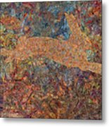 Ghost Of A Rabbit Metal Print by James W Johnson